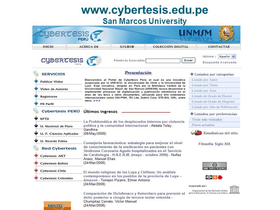 www.cybertesis.edu.pe San Marcos University