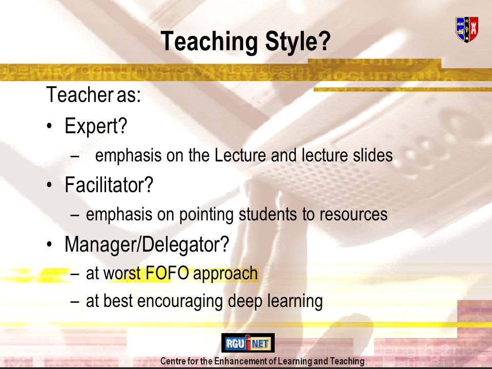 Centre for the Enhancement of Learning and Teaching BUSINESS ECONOMICS on the Intranet Lecture Slides Module Induction Weblinks for Seminar Preparation etc Role Playing Exercises Video Streaming Assessment/ Administration Online Helpline