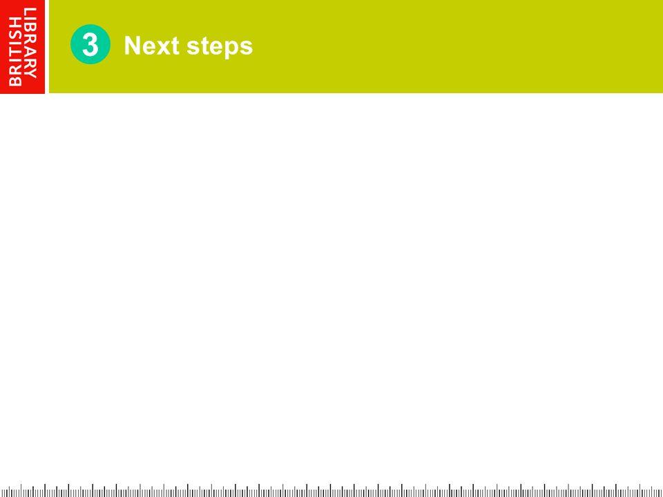 Next steps 3