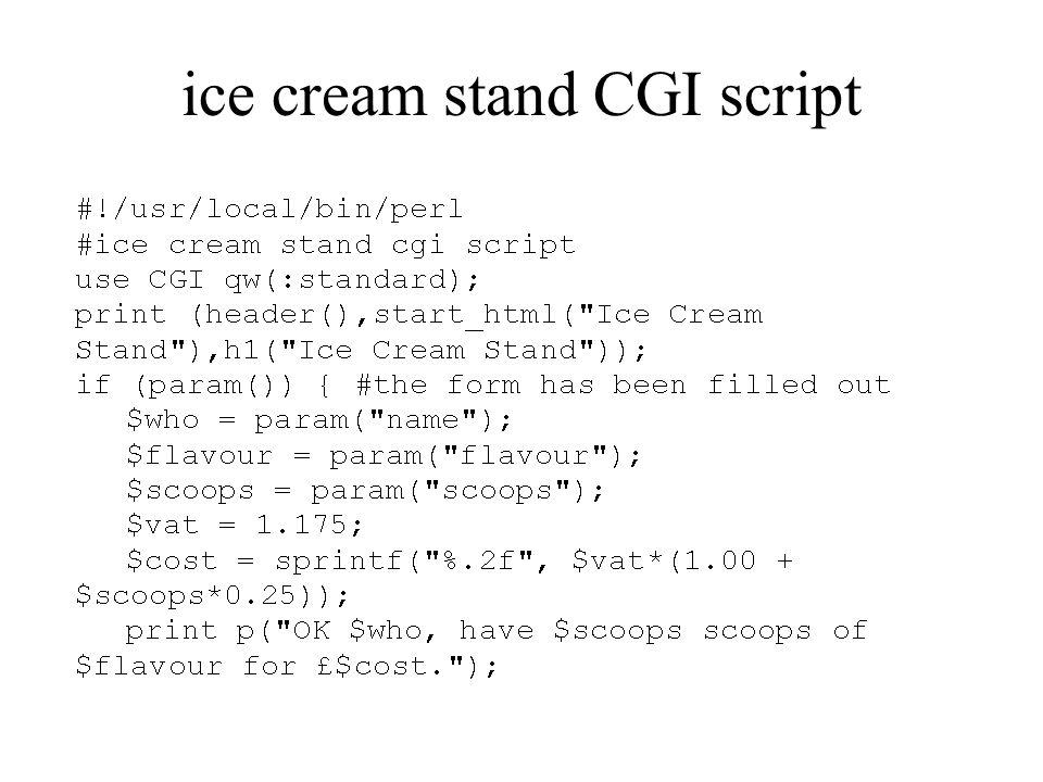 ice cream stand CGI script