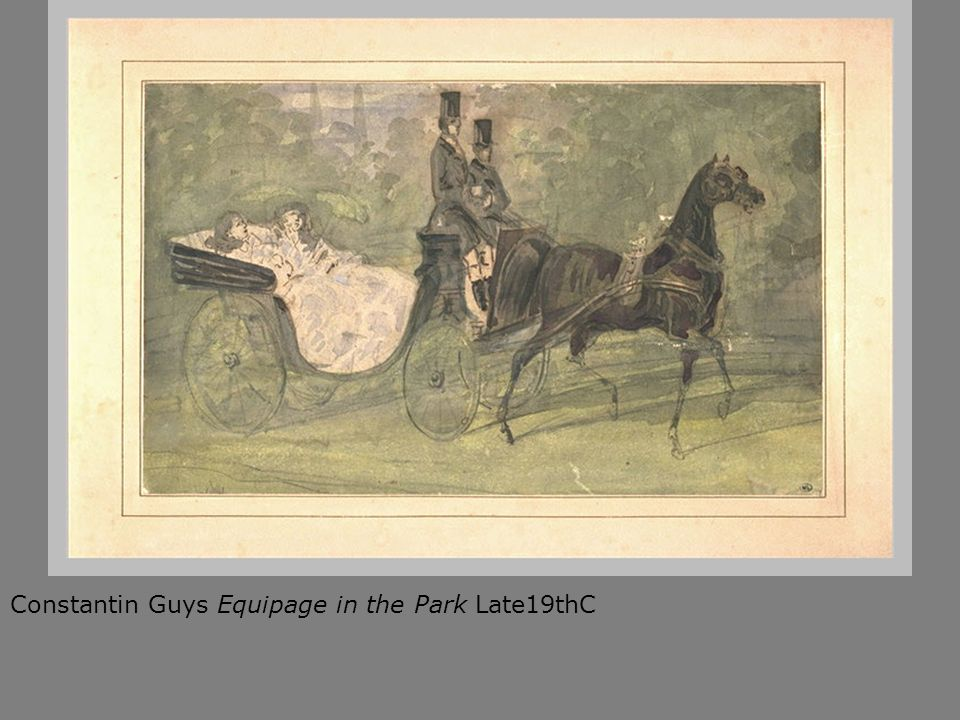 Constantin Guys Equipage in the Park Late19thC
