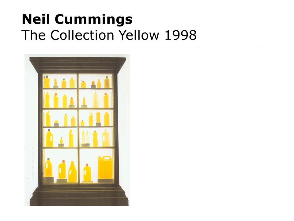 Neil Cummings The Collection Yellow 1998