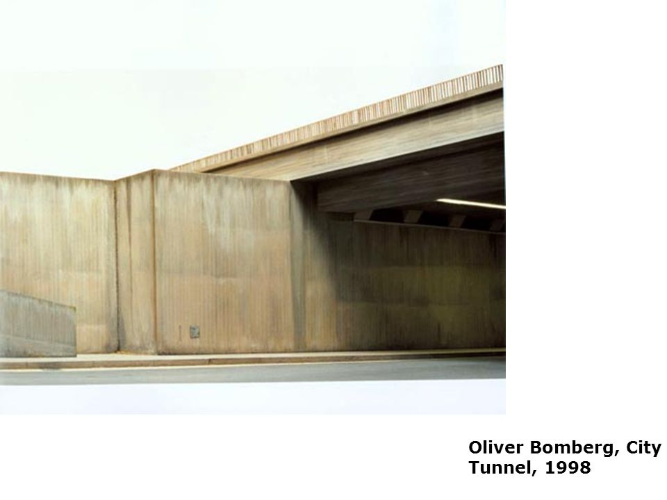 Oliver Bomberg, City Tunnel, 1998 Placelessness