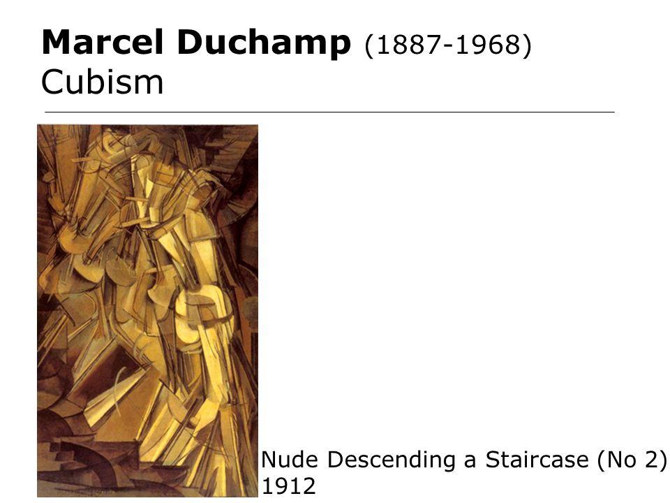 Marcel Duchamp (1887-1968) Cubism Nude Descending a Staircase (No 2) 1912