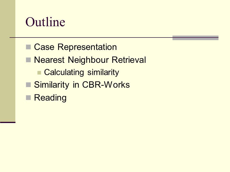 Nearest Neighbour Retrieval Retrieve most similar k-nearest neighbour (k-NN) like scoring in bowls or curling Example 1-NN 5-NN …
