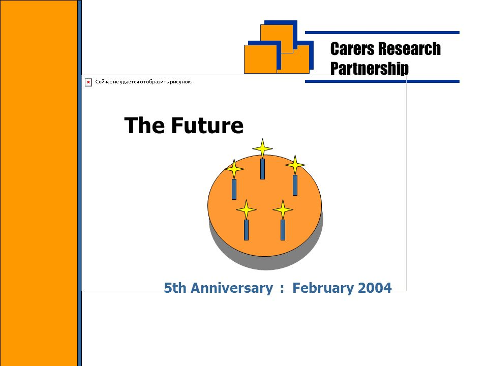 Carers Research Partnership The Future 5th Anniversary : February 2004