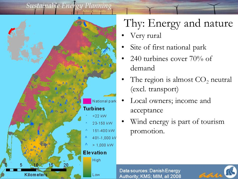 Visibility during times Data sources: KMS, 2007; Danish Energy Authority, 2008