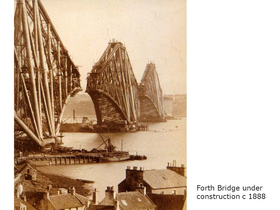 Forth Bridge under construction c 1888
