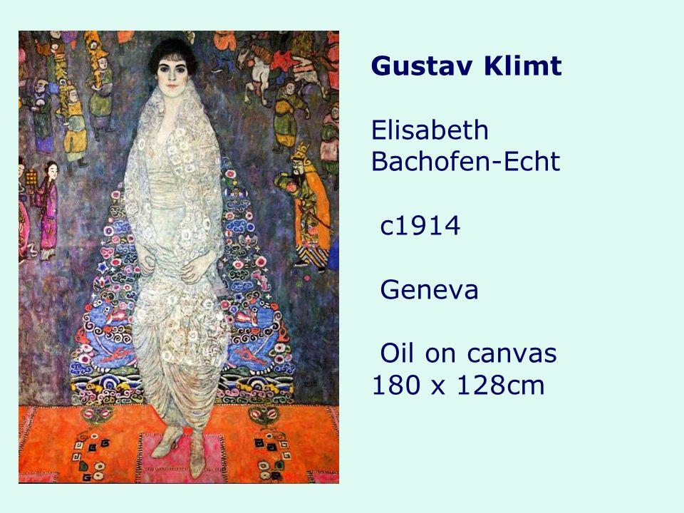 Gustav Klimt Elisabeth Bachofen-Echt c1914 Geneva Oil on canvas 180 x 128cm