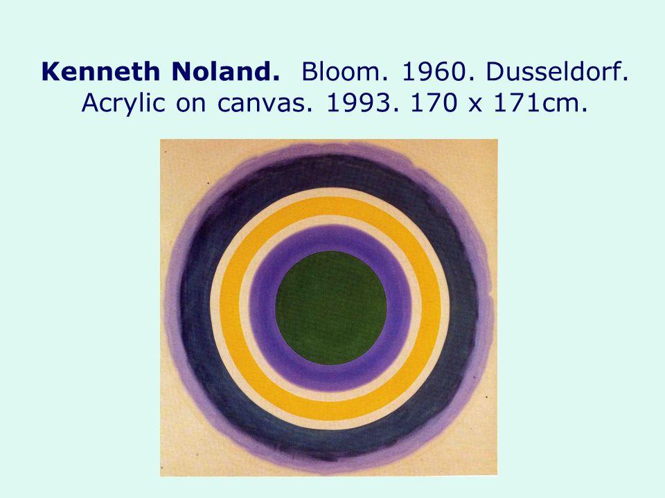 Kenneth Noland. Bloom. 1960. Dusseldorf. Acrylic on canvas. 1993. 170 x 171cm.
