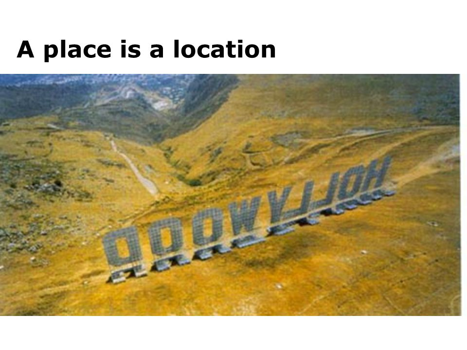 A place is a location