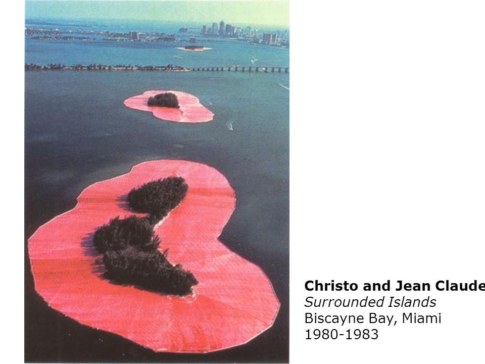 Christo and Jean Claude Surrounded Islands Biscayne Bay, Miami 1980-1983