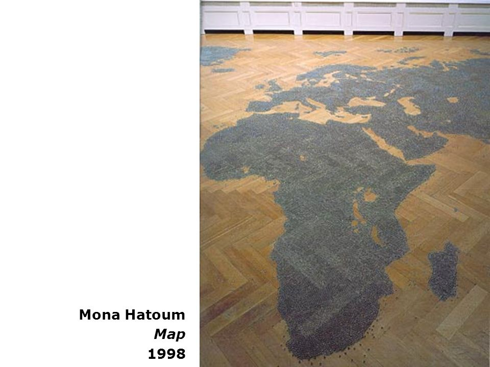 Mona Hatoum Map 1998