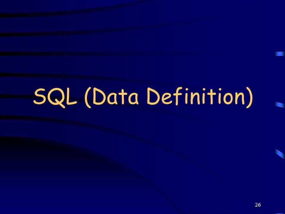26 SQL (Data Definition)