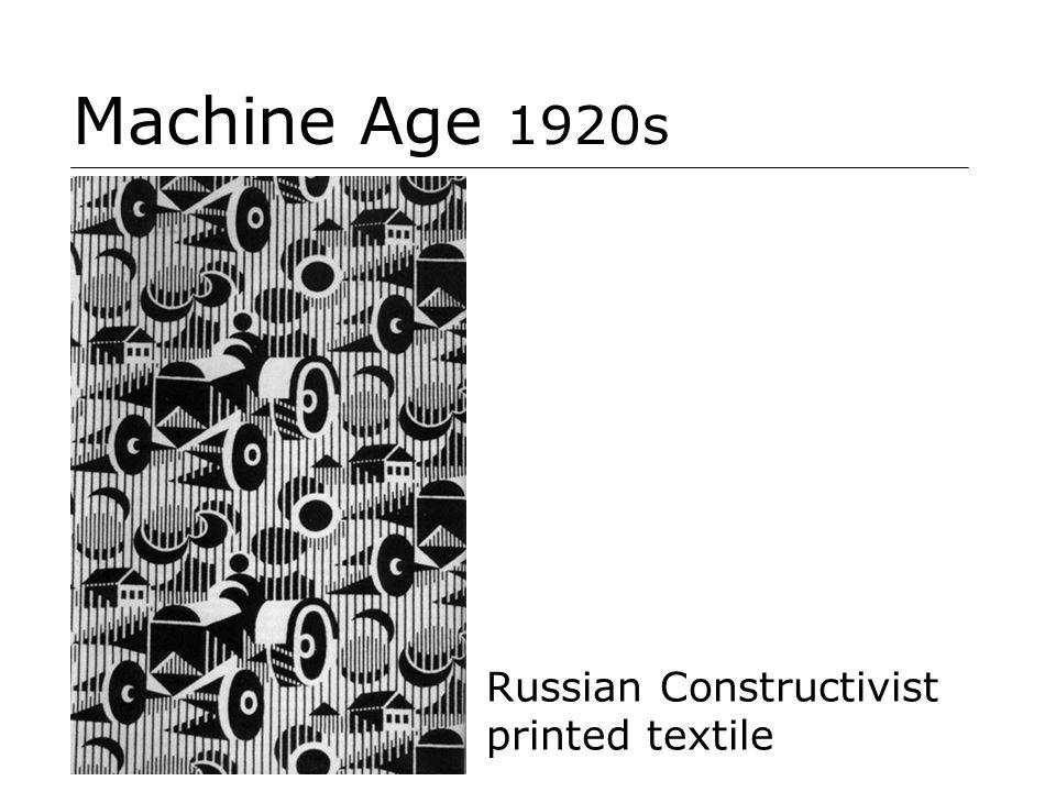 Machine Age 1920s Russian Constructivist printed textile