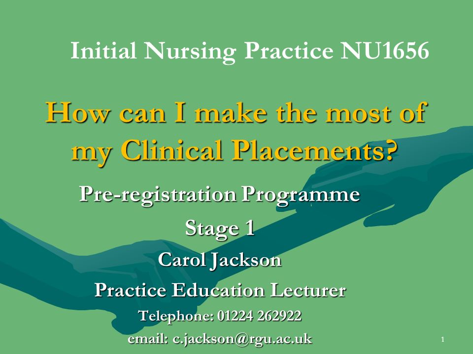 How can I make the most of my Clinical Placements.