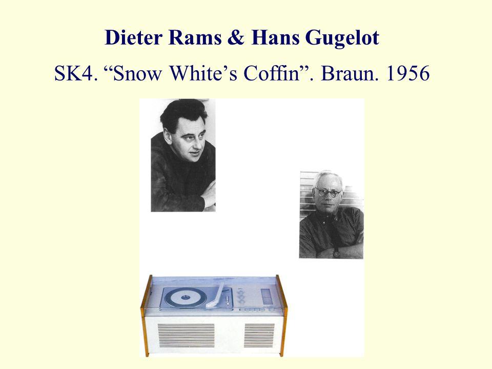 Dieter Rams & Hans Gugelot SK4. Snow Whites Coffin. Braun. 1956