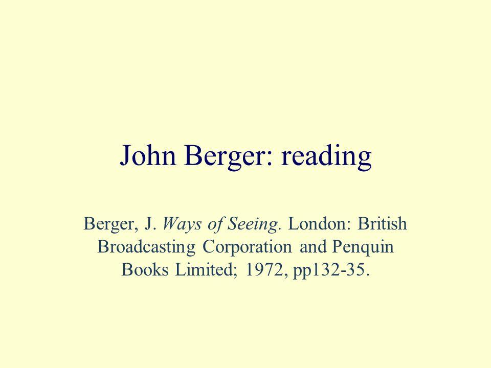 Books On Berger: Murray, C.Key Writers on Art: The Twentieth Century.