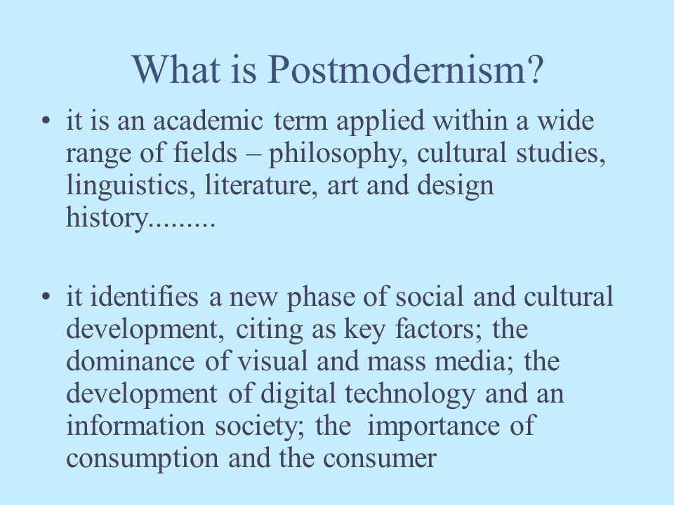 Postmodernism in Design...
