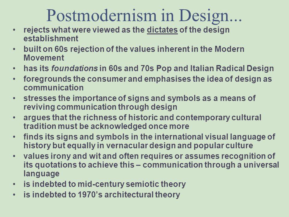 Design and Postmodernism