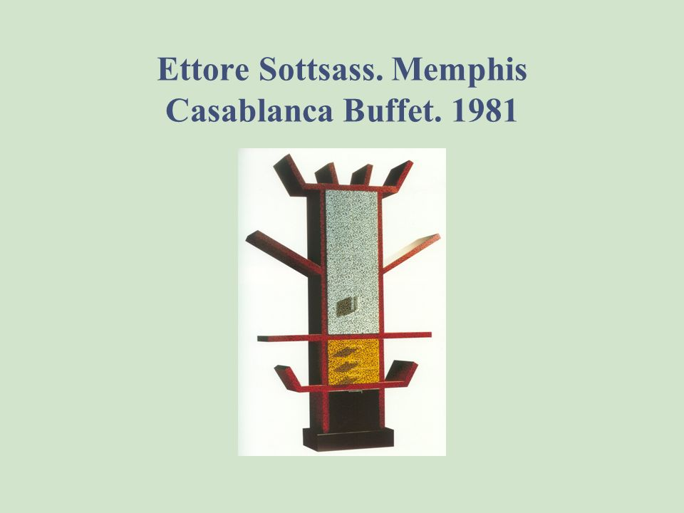 Ettore Sottsass. Memphis Milano Carlton Bookshelf. 1981