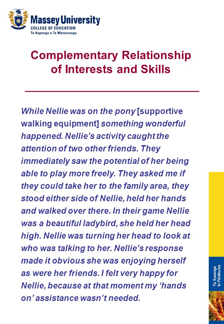 While Nellie was on the pony [supportive walking equipment] something wonderful happened.