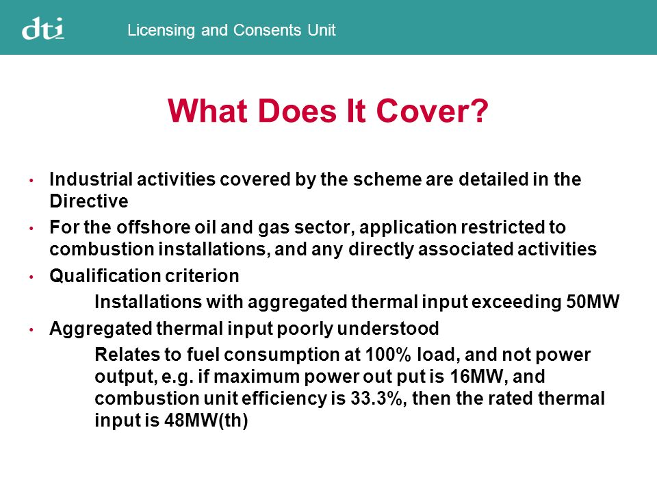 Licensing and Consents Unit What Qualifies As A Combustion Unit.