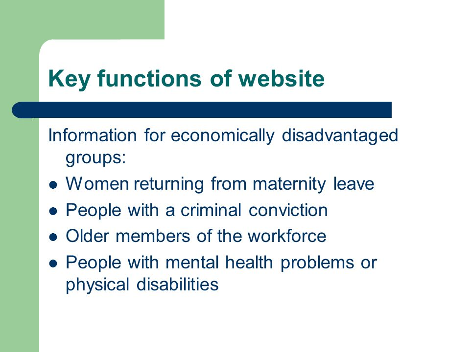 Key functions of website Information for employers: LMI and workforce development advice for locally-based businesses to encourage a culture of learning within organisations in the North East