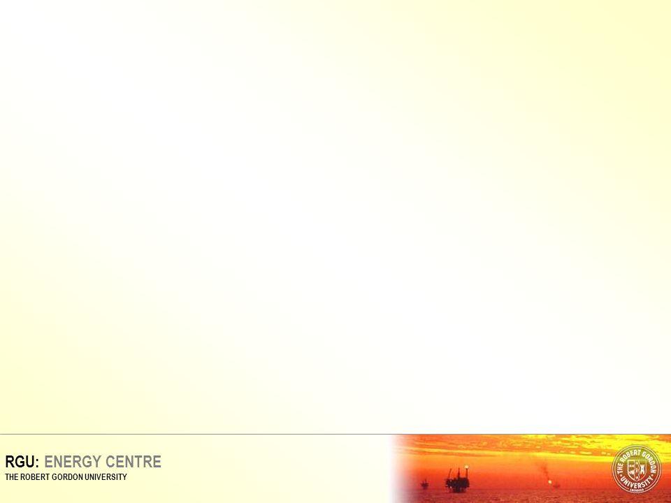 RGU: ENERGY CENTRE THE ROBERT GORDON UNIVERSITY