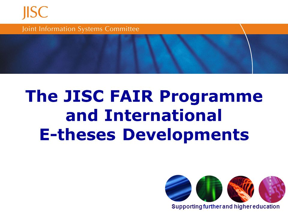 2 Introduction The FAIR Programme –Background –Projects The National Digital Library for Theses and Dissertations (NDLTD) International e-theses developments