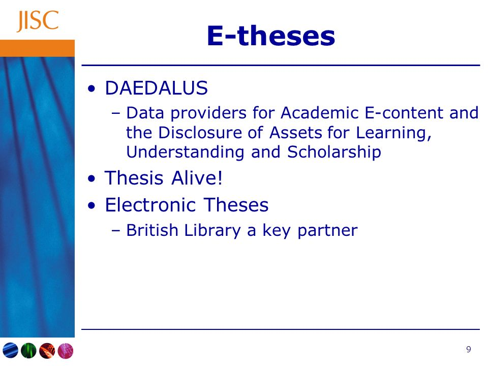 10 The NDLTD National Digital Library for Theses and Dissertations –Based at Virginia Tech University in the US –In existence since 1997 –Recently matured from loose Steering Committee to formal Board of Directors –Runs annual conference (04 - Kentucky) –Tutorials and wide range of information and advice (http://www.ndltd.org) –International membership 196 institutional members Reasonable membership fee