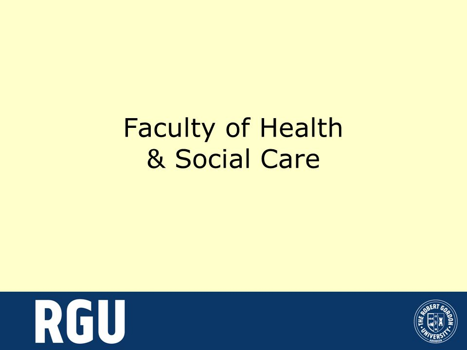 Faculty of Health & Social Care