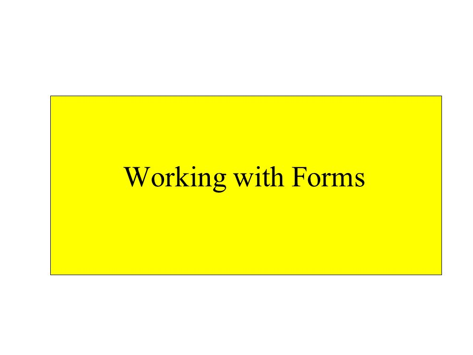 Design function isBlank returns a boolean indicating whether a field is blank –should work on a text field or a textarea function verify runs when a form is submitted –checks all fields in the form –submits data if all fields valid –blocks invalid data and produces a list of errors