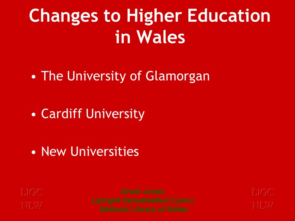 Arwel Jones Llyfrgell Genedlaethol Cymru National Library of Wales University of Wales Thesis: A National Collection 1899 – 1 thesis 1342 in 1992 2301 in 1993 2736 in 1994