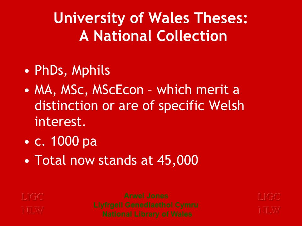 Implications … Just as great in Wales as elsewhere in Britain...