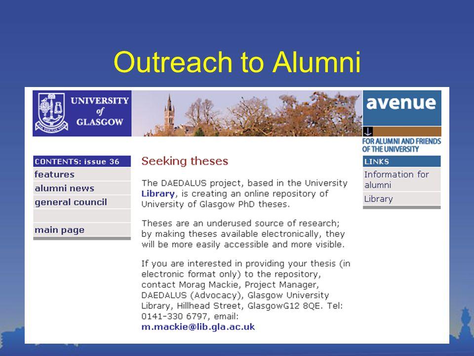 Outreach to Alumni