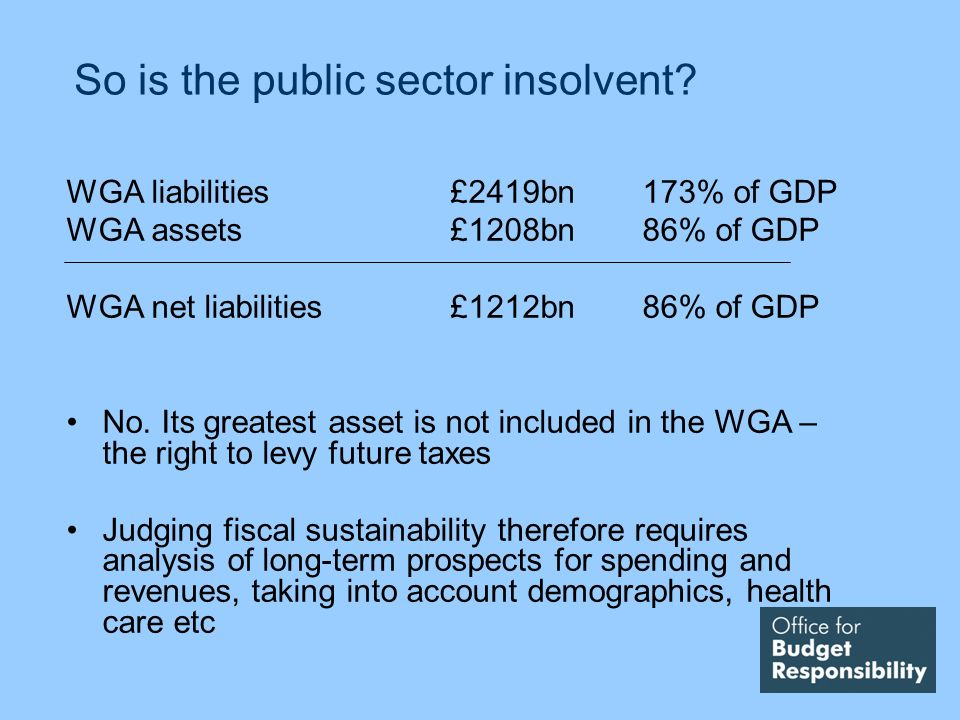 So is the public sector insolvent.
