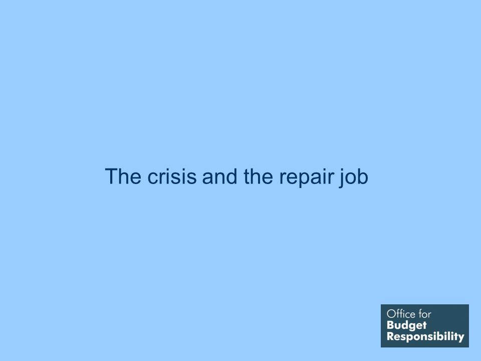 The crisis and the repair job