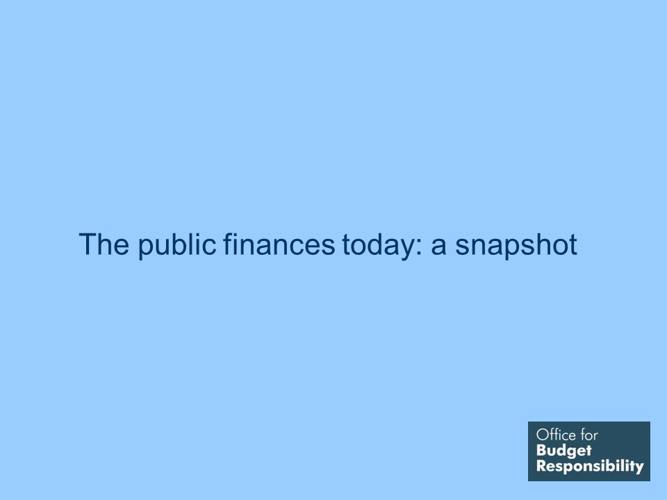 The public finances today: a snapshot