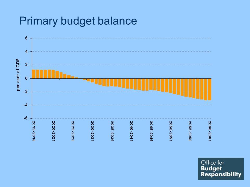 Primary budget balance