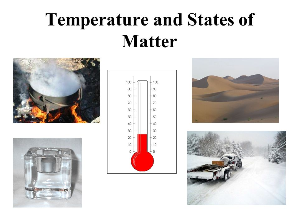 Measuring Temperature Using States Of Matter Solids can turn into liquids, and liquids can turn into gasses and back again - depending on the temperature.