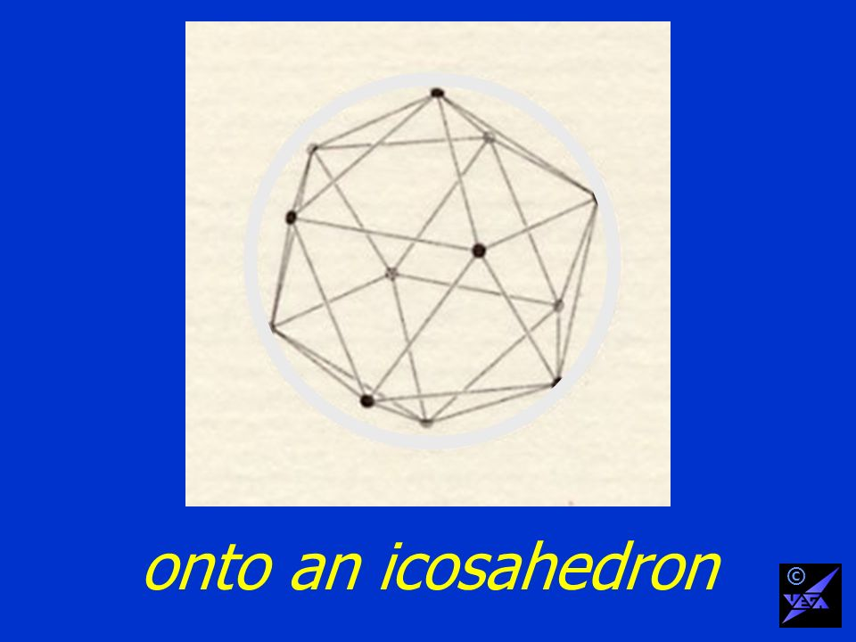 onto an icosahedron ©