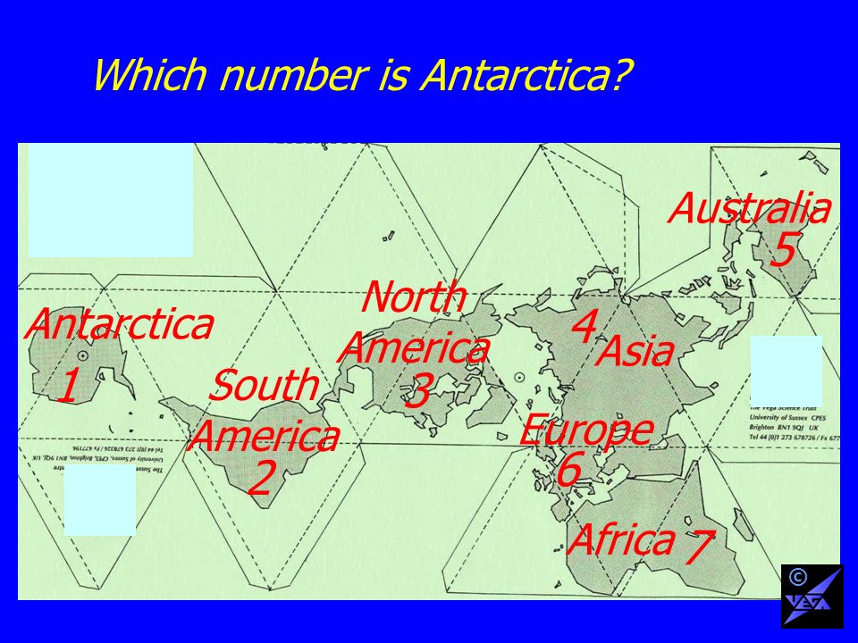 Which number is Antarctica.
