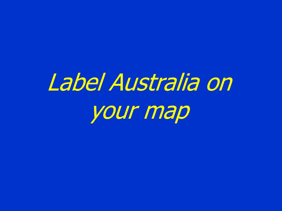Label Australia on your map