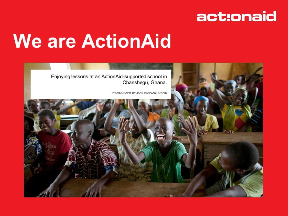 We are ActionAid