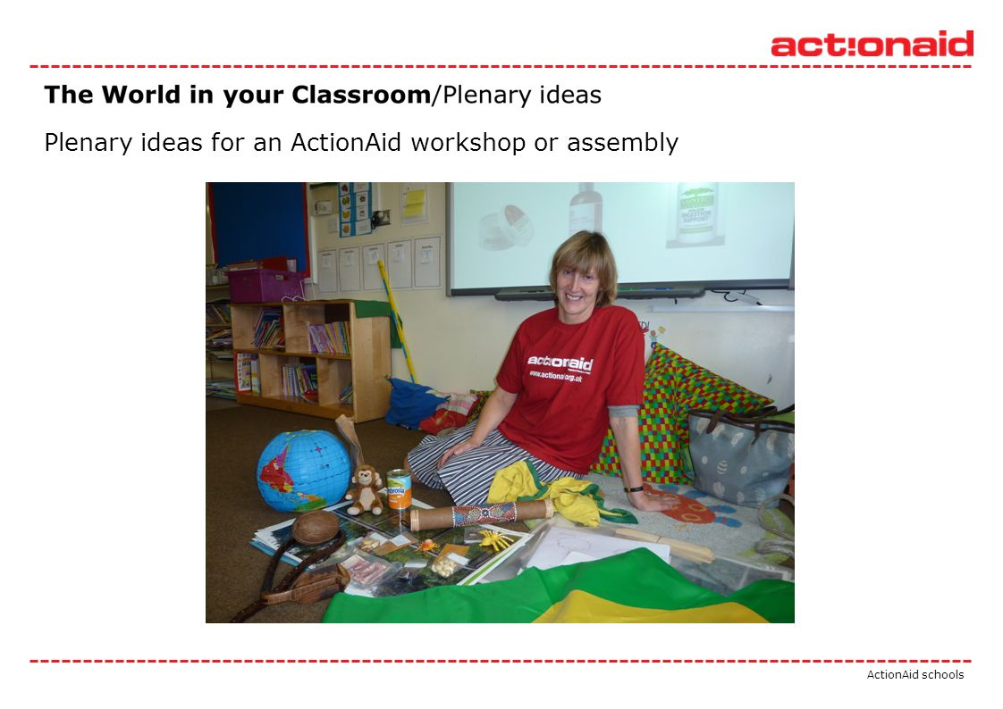 ActionAid schools Speak about todays workshop or assembly for one minute