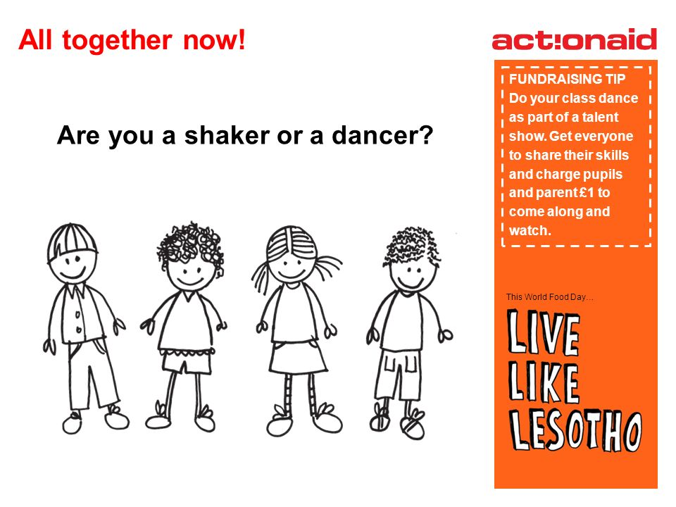 This World Food Day… Are you a shaker or a dancer.