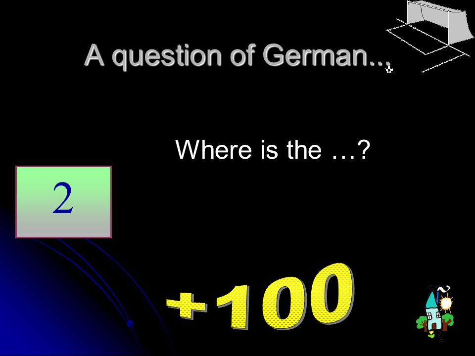 A question of German... 2 Where is the …?