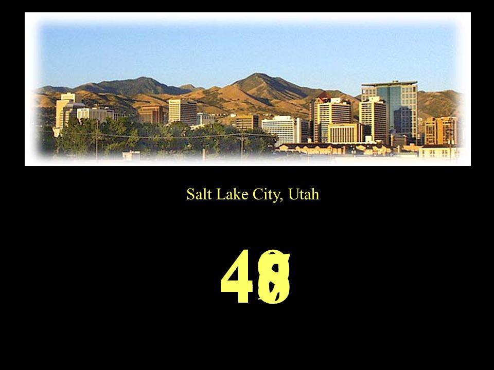 Salt Lake City, Utah 49 484746
