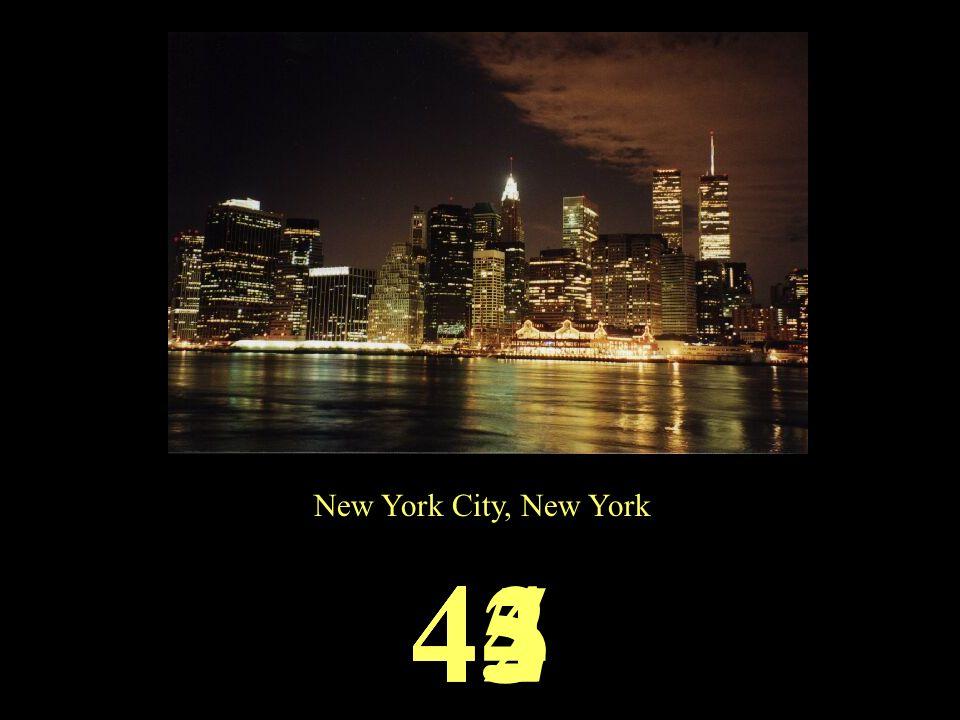 New York City, New York 45444342